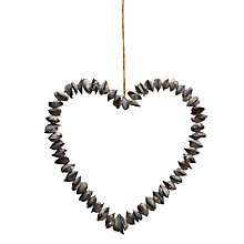 Buy Parlane Hanging Shell Heart, Cream, Small Online at johnlewis.com