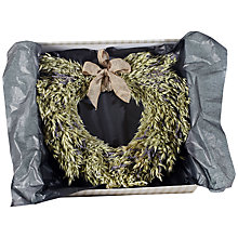 Buy Winterflora Oat And Lavender Dried Heart, Green Online at johnlewis.com