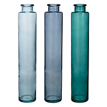 Buy Recycled Glass Vases, Assorted Online at johnlewis.com