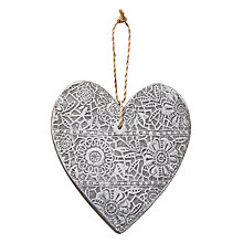 Buy Parlane Stone Hanging Heart, White Online at johnlewis.com