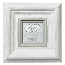 "Buy Whitewash Chunky Frame, White, 4 x 4"" Online at johnlewis.com"