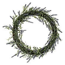 Buy John Lewis Lavender Wreath, Large Online at johnlewis.com