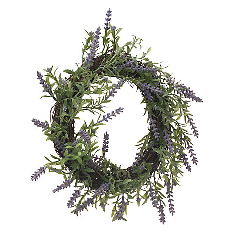 Buy John Lewis Lavender Wreath, Small Online at johnlewis.com