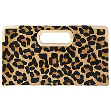 Buy Dune Evies Suede Metal Trim Clutch Bag, Leopard Print Online at johnlewis.com