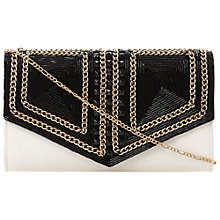 Buy Dune Eaded Beaded Clutch Handbag, Black/White Online at johnlewis.com