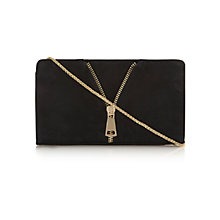 Buy Dune Bippy Suede Clutch Handbag, Black Online at johnlewis.com