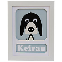 Buy Stripey Cats Personalised Donnie Dog Framed Print, 23 x 18cm Online at johnlewis.com