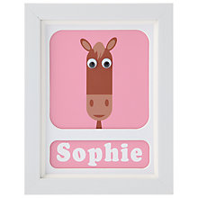 Buy Stripey Cats Personalised Henry Horse Framed Print, 23 x 18cm Online at johnlewis.com