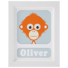 Buy Stripey Cats Personalised Ozzy Orangutan Framed Print, 23 x 18cm Online at johnlewis.com