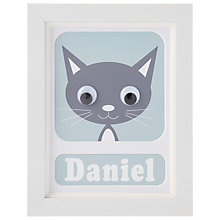 Buy Stripey Cats Personalised Kirsty Kitten Framed Print, 23 x 18cm Online at johnlewis.com