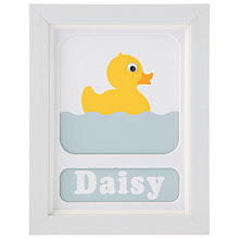 Buy Stripey Cats Personalised Daisy Duck Framed Print, 23 x 18cm Online at johnlewis.com
