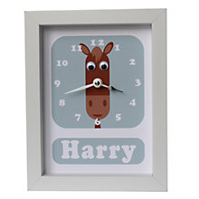 Buy Stripey Cats Personalised Henry Horse Framed Clock, 23 x 18cm Online at johnlewis.com