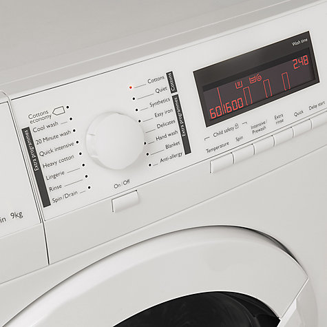 Buy John Lewis JLWM1606 Freestanding Washing Machine, 9kg Load, A+++ Energy Rating, 1600rpm Spin, White Online at johnlewis.com