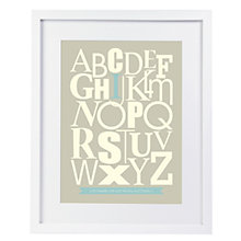 Buy Modo Creative Personalised Alphabet Graphic Framed Print, 51 x 40.5cm Online at johnlewis.com