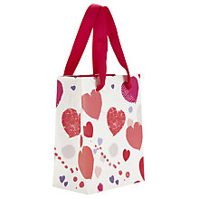 Buy John Lewis Scatter Heart Gift Bag, Mini Online at johnlewis.com