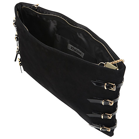 Buy Dune Bookie Buckle Detail Oversized Suede Clutch Bag Online at johnlewis.com