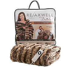 Buy Dreamland 16084 Relaxwell Deluxe Faux Fur Heated Throw, Large Online at johnlewis.com