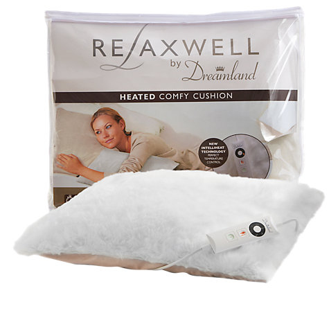 Buy Dreamland 16080 Relaxwell Heated Comfy Cushion, White Online at johnlewis.com