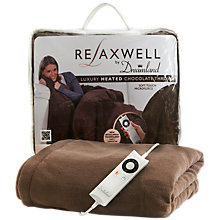 Buy Dreamland 16082 Relaxwell Luxury Heated Throw, Chocolate Online at johnlewis.com