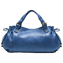 Buy Gérard Darel 24 Hours Derby Leather Bag, Blue Online at johnlewis.com