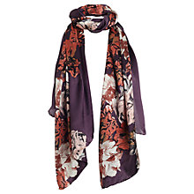 Buy Jigsaw Sketch Floral Scarf, Purple Online at johnlewis.com