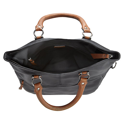 Buy Jigsaw Arundel Leather Satchel Bag, Black Online at johnlewis.com