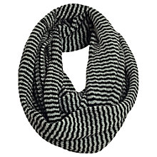 Buy Jigsaw Reverse Snood, Black Online at johnlewis.com