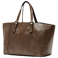 Buy Gérard Darel Vittoria Leather Tote Handbag, Taupe Online at johnlewis.com