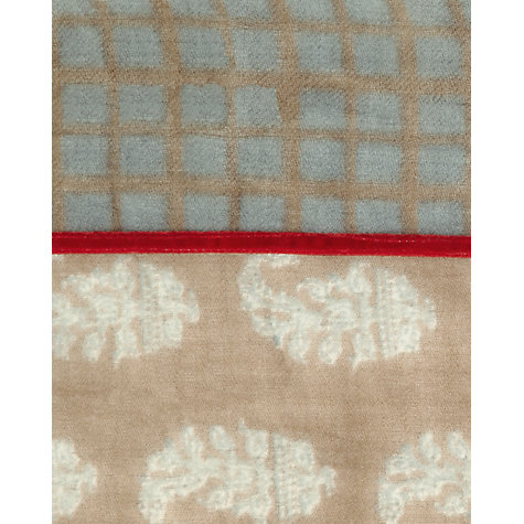 Buy Jigsaw Paisley Check Scarf, Taupe Online at johnlewis.com