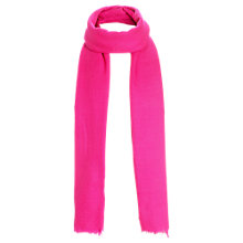 Buy Jigsaw Soft Wool Scarf, Pink Online at johnlewis.com