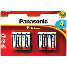 Buy Panasonic Pro Power LR14 Alkaline C Battery, Pack of 4 Online at johnlewis.com