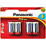 Panasonic Pro Power LR14 Alkaline C Battery, Pack of 4