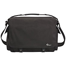 "Buy Lowepro Urban Reporter 350, Messenger Bag for DSLR Cameras and Laptops up to 15"", Black Online at johnlewis.com"