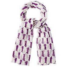 Buy White Stuff Sausage Cat Print Scarf, Purple Haze Online at johnlewis.com