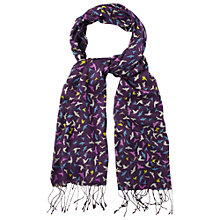 Buy White Stuff Devine Bird Print Scarf, Purple Haze Online at johnlewis.com