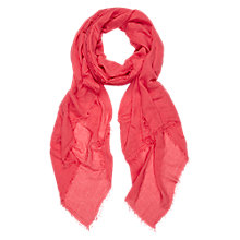 Buy Hobbs Catherine Scarf, Lipstick Pink Online at johnlewis.com