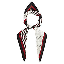 Buy Viyella Large Silk Square Scarf, Dark Chianti Online at johnlewis.com