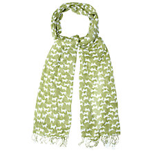 Buy White Stuff Doggie Print Scarf, Moss Green Online at johnlewis.com
