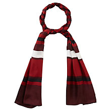 Buy Viyella Silk Stripe Scarf, Dark Chianti Online at johnlewis.com