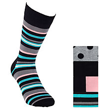 Buy Happy Socks Patterned Socks, Pack Of 3, One Size, Multi Online at johnlewis.com
