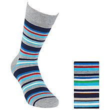 Buy Happy Socks Striped Socks, Pack of 3, Multi Online at johnlewis.com
