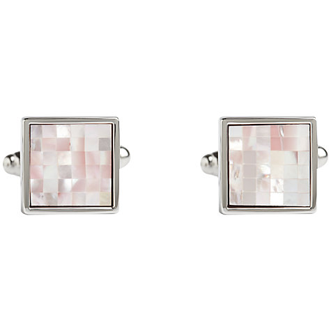 Buy Simon Carter Check Square Mother of Pearl Cufflinks Online at johnlewis.com