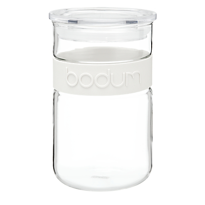 Bodum Presso Glass Storage Jar, 0.6L, White