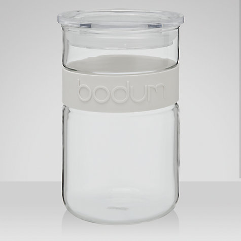 Buy Bodum Presso Glass Storage Jar, 0.6L, White Online at johnlewis.com