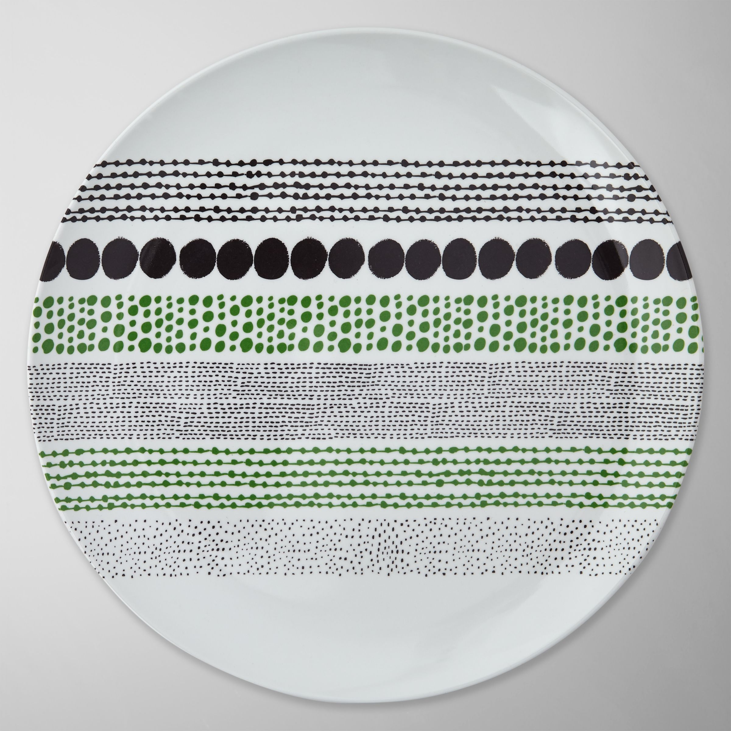 House by John Lewis Chain Dot Dinner Plate