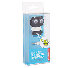 Buy Robo Buddy Headphones and Cord Wrap, Black Online at johnlewis.com