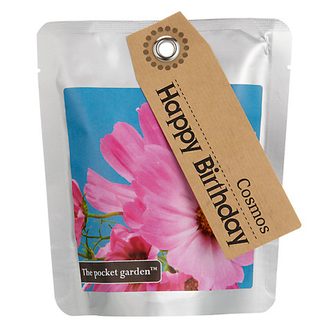 Buy The Pocket Garden Happy Birthday Cosmos Seeds Online at johnlewis.com