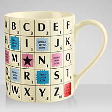 Buy Wild & Wolf Scrabble Alphabet Mug Online at johnlewis.com