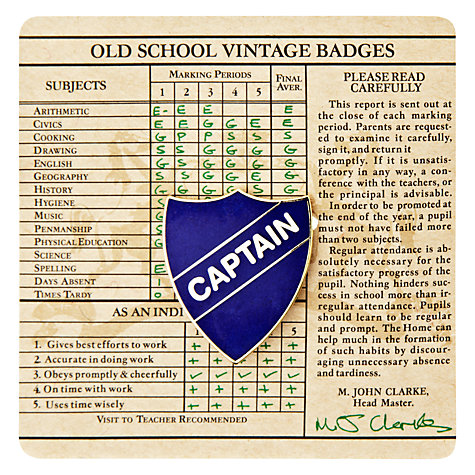Buy Wild & Wolf Vintage School Captain Badge Online at johnlewis.com
