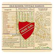 Buy Wild & Wolf Vintage School Head Girl Badge Online at johnlewis.com